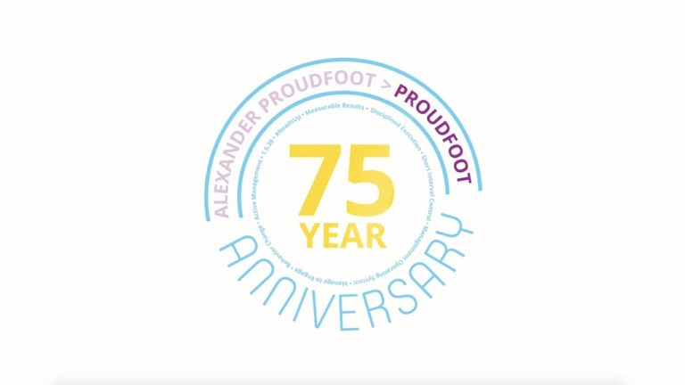 Global Operations Consultancy: Proudfoot's 75th Anniversary