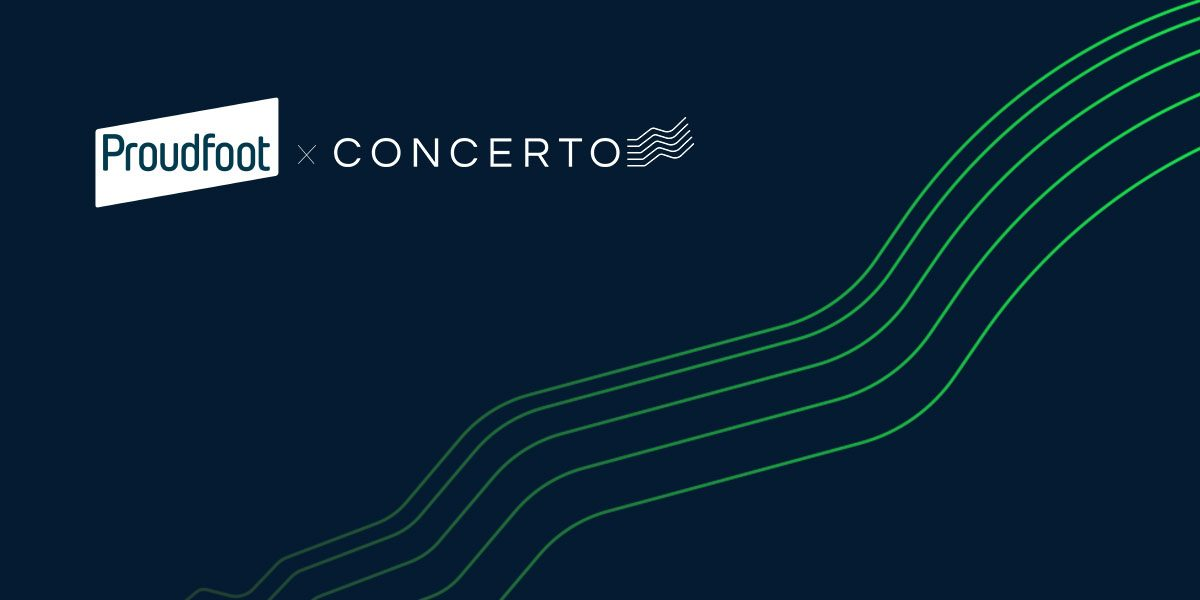 Strategic alliance with Concerto - Proudfoot