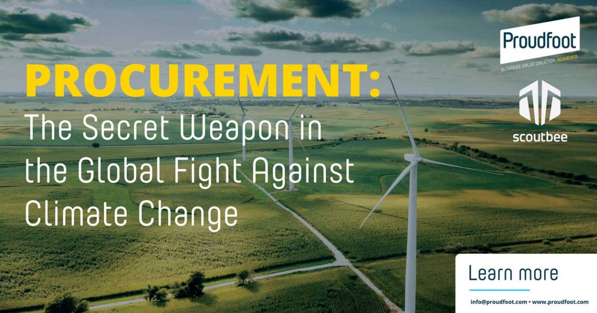 Fighting Climate Change with Procurement | Proudfoot